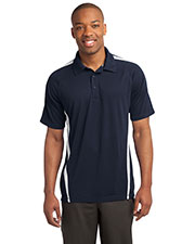 Sport-Tek ST685 Men PosiCharge MicroMesh Colorblock Polo at GotApparel