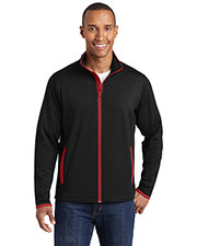 Sport-Tek® ST853 Men Stretch Contrast Full-Zip Jacket at GotApparel