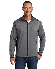 Sport-Tek ST853 Men Stretch Contrast Full Zip Jacket at GotApparel