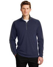 Sport-Tek ST861  ®  Sport-Wick ®  Textured Colorblock 1/4-Zip Pullover. at GotApparel
