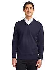 Port Authority SW300 Men Value V-Neck Sweater at GotApparel