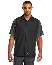 Red Kap  SY20 Men Short-Sleeve Ripstop Crew Shirt at GotApparel