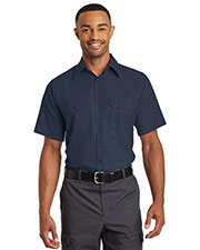Red Kap  SY60 Men Short-Sleeve Solid Ripstop Shirt at GotApparel