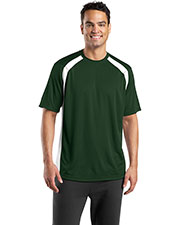 Sport-Tek T478 Men Dry Zone Colorblock Crew at GotApparel