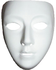 Halloween Costumes TF111602  BLANK FEMALE MASK at GotApparel