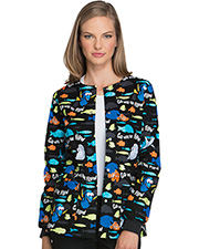 Tooniforms TF300 Women Snap Front Warm-Up Jacket  at GotApparel