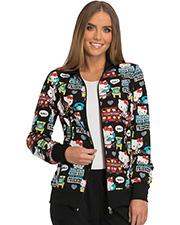 Tooniforms TF301 Women Zip Front Warm-Up Jacket  at GotApparel