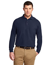 Port Authority TLK500LS Men Tall Silk Touch  Long-Sleeve Polo at GotApparel