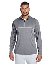 Team 365 TT26 Men Excel Melange Interlock Performance Quarter-Zip Top at GotApparel