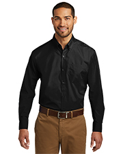 Port Authority TW100 Men Long Sleeve Carefree Poplin Shirt    at GotApparel