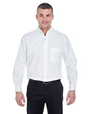UltraClub 8360 Men Long Sleeve Performance Pinpoint at GotApparel
