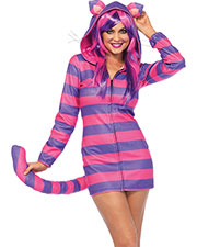 Halloween Costumes UA85553SM Women Cat Cheshire Cozy Small at GotApparel