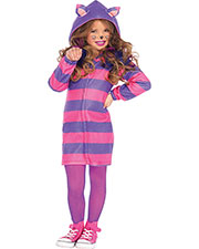 Halloween Costumes UAC49106SM Girls Cat Cheshire Cozy Ch Sm 5-6 at GotApparel