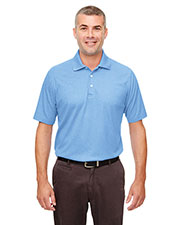 UltraClub UC100  Men's Heathered Pique Polo at GotApparel