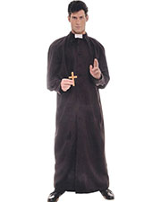 Halloween Costumes UR28160 Men Priest Deluxe Adult at GotApparel