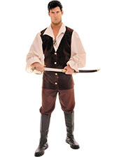 Halloween Costumes UR28233 Men Buccaneer Tan Brown One Sz at GotApparel