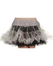 PETTICOAT TUTU BLK& GRAY at GotApparel