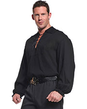 Halloween Costumes UR29299  PIRATE SHIRT ADULT BLACK at GotApparel