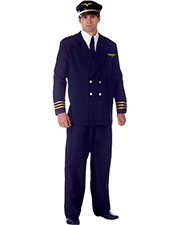 Halloween Costumes UR29428 Men Airline Captain Black at GotApparel