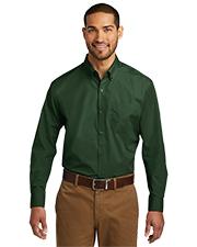 Port Authority W100 Men Sleeve Carefree Poplin Shirt     at GotApparel