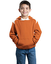 Sport-Tek Y264 Boys Pullover Hooded Sweatshirt with Contrast Color at GotApparel