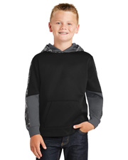 Sport-Tek® YST231 Youth Sport-Wick  Mineral Freeze Fleece Colorblock Hooded Pullover at GotApparel