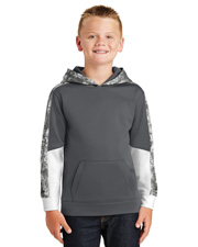 Sport-Tek YST231  ® Youth Sport-Wick® Mineral Freeze Fleece Colorblock Hooded Pullover. . at GotApparel