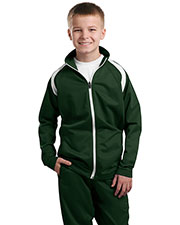 Sport-Tek YST90 Boys Tricot Track Jacket at GotApparel