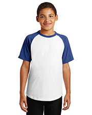 Sport-Tek YT201 Boys Short Sleeve Colorblock Raglan Jersey at GotApparel