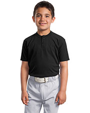 Sport-Tek YT210 Boys Short Sleeve Henley at GotApparel